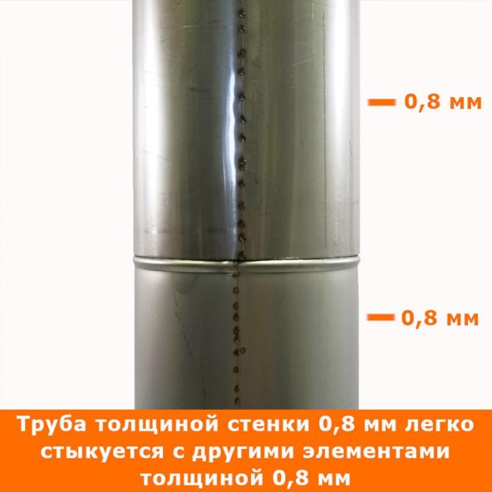 Труба без изоляции 500 / 150 / 0,8 мм AISI-304