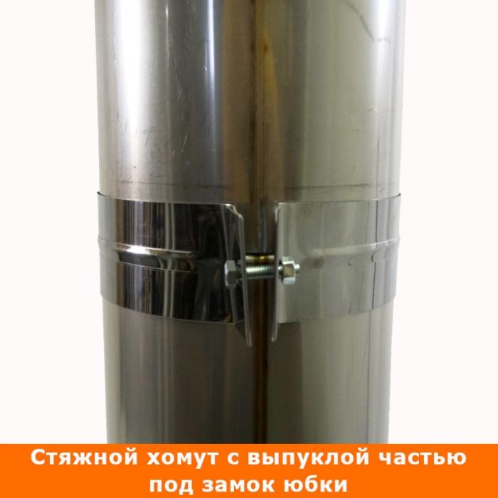 Труба без изоляции 1000 / 150 / 0,5 мм СШ AISI-304