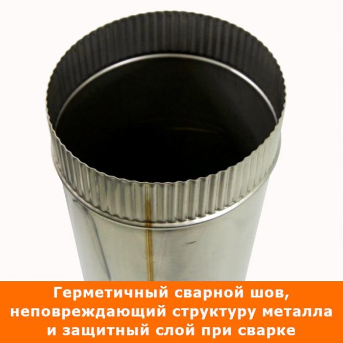 Труба без изоляции 1000 / 200 / 0,8 мм СШ AISI-304
