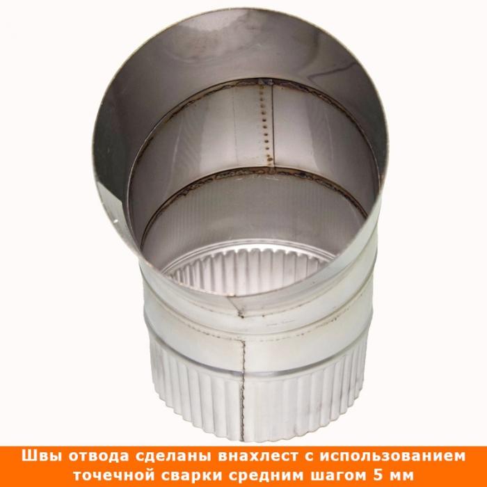 Отвод 45º без изоляции 150 / 1 мм AISI 304