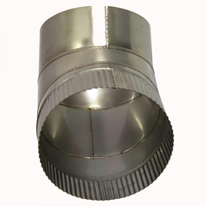 Отвод 45º без изоляции 200 / 1 мм AISI 304