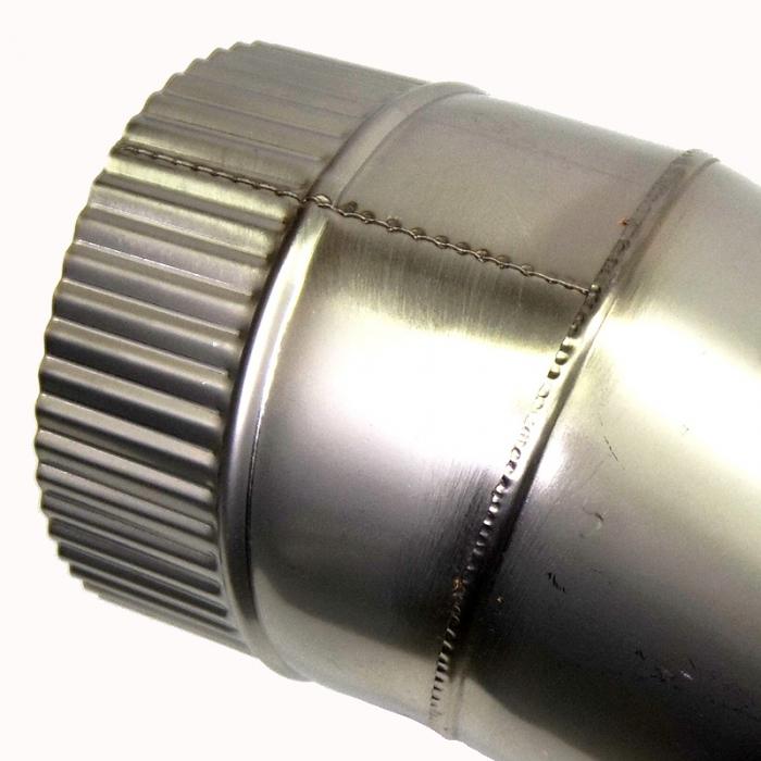 Отвод 90º без изоляции 150 / 0,5 мм AISI 304