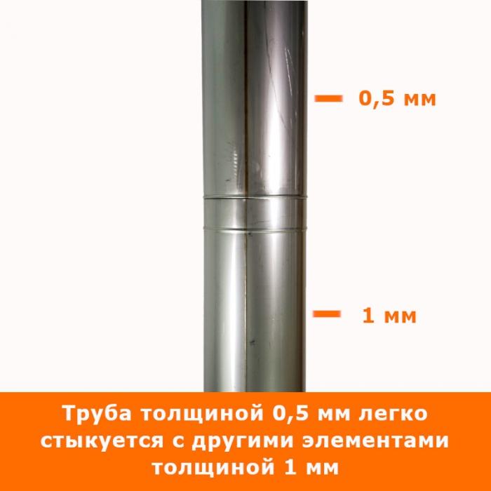 Труба без изоляции 500 / 200 / 0,5 мм СШ AISI-304