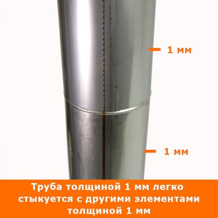 Труба без изоляции 1000 / 200 / 1 мм AISI-304