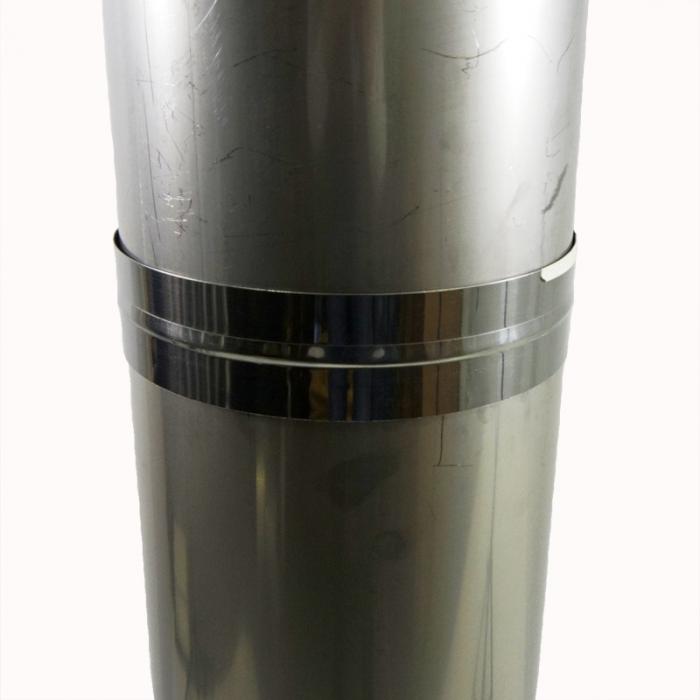 Труба без изоляции 1000 / 200 / 0,5 мм AISI-304