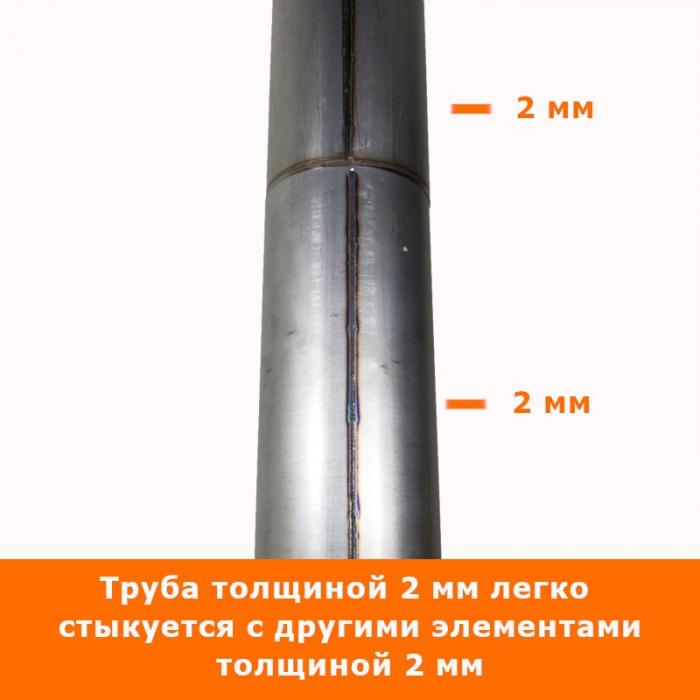 Труба без изоляции 500 / 200 / 2 мм AISI-430