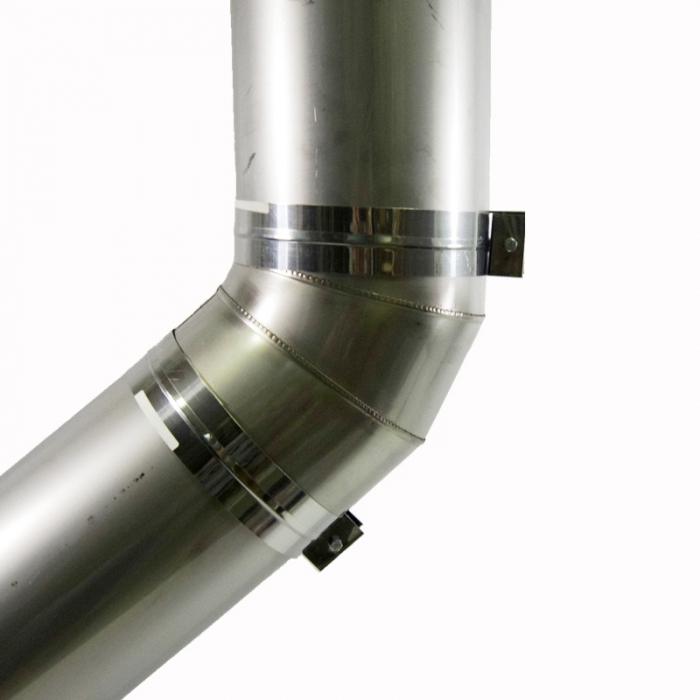Отвод 45º без изоляции 150 / 0,8 мм AISI 304