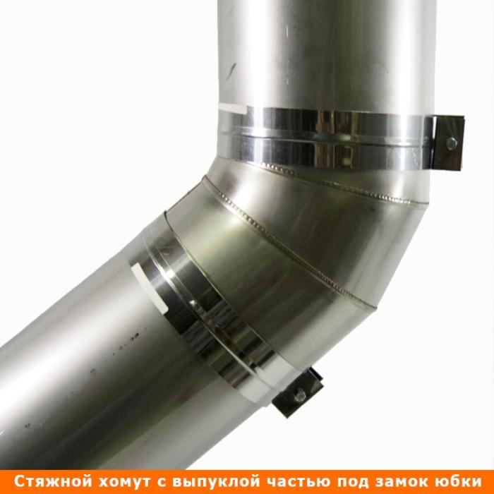 Отвод 45º без изоляции 200 / 0,5 мм AISI 304 СШ