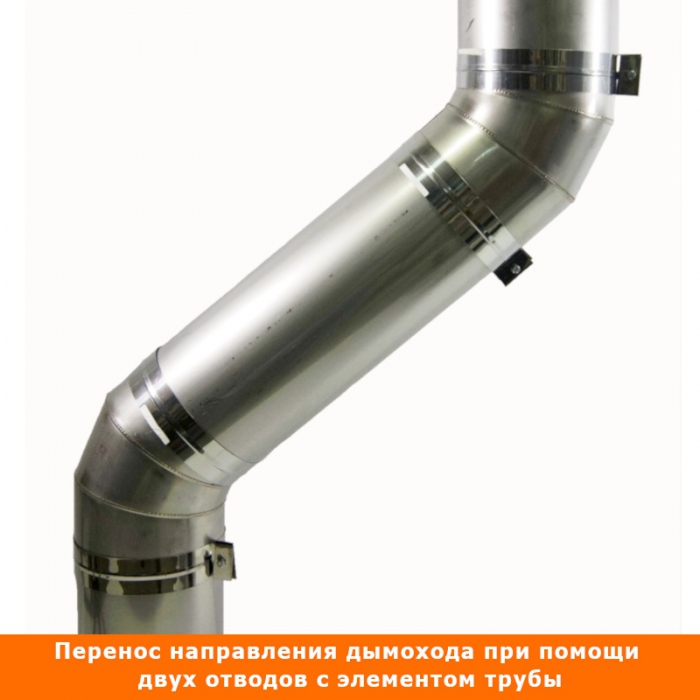 Отвод 45º без изоляции 200 / 0,5 мм AISI 304