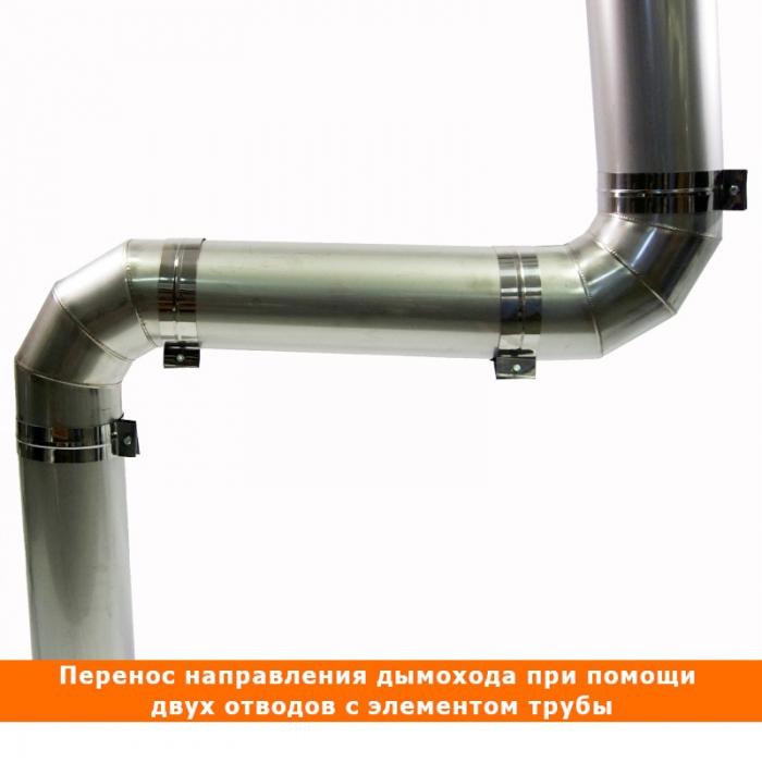 Отвод 90º без изоляции 150 / 0,8 мм AISI 304