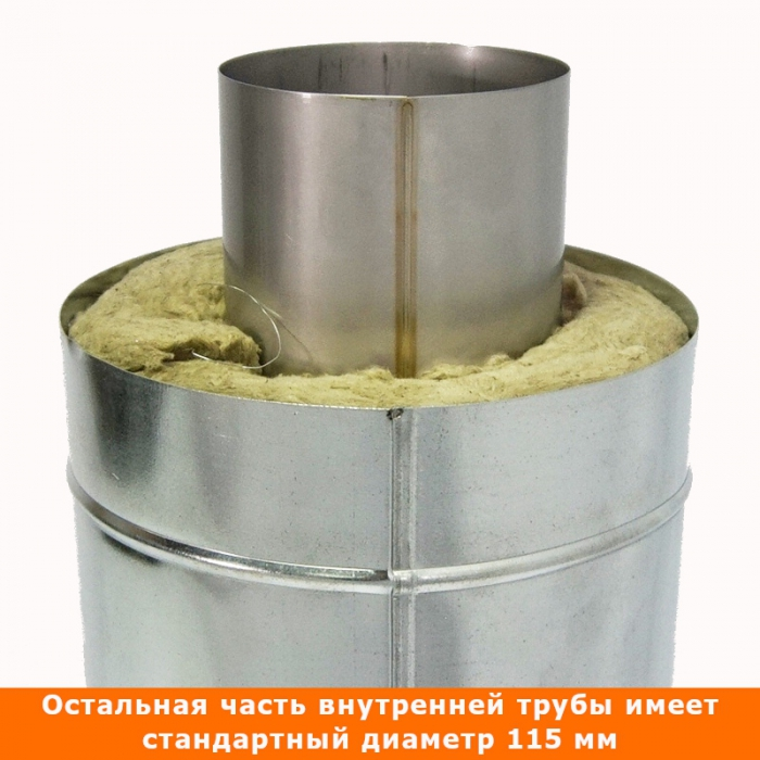 Труба с изоляцией 500 / 115/215 / 0,8 мм AISI 304/оцинк. СШ
