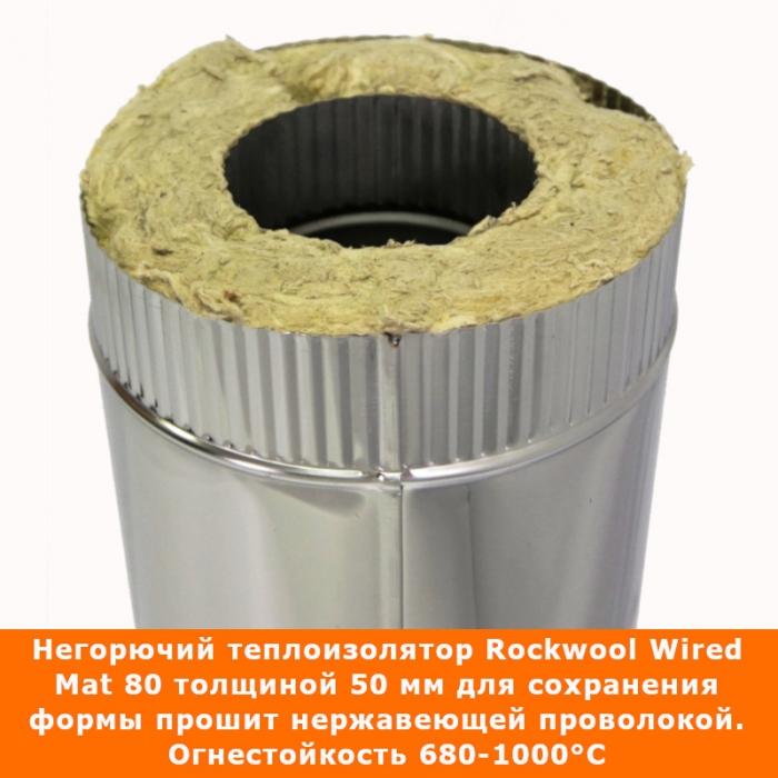 Труба с изоляцией 500 / 115/215 / 0,5 мм AISI 304/430