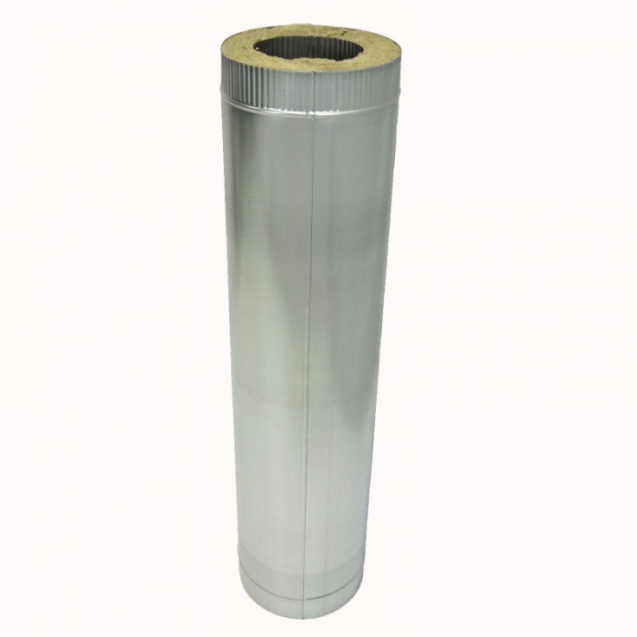 Труба с изоляцией 1000 / 150/250 / 0,8 мм AISI 304/оцинк. СШ