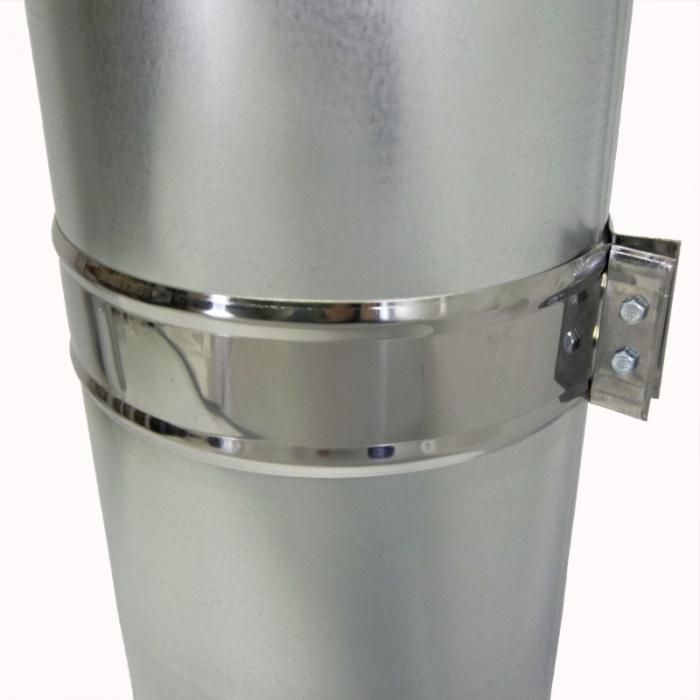 Труба с изоляцией 1000 / 150/250 / 0,5 мм AISI 304/оцинк. СШ