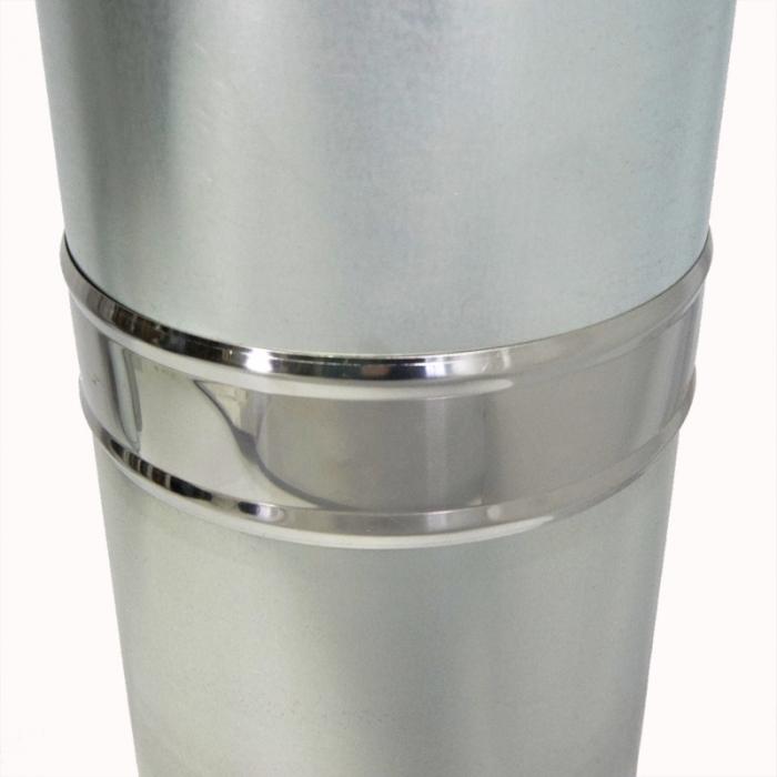 Труба с изоляцией 1000 / 150/250 / 0,5 мм AISI 304/оцинк.