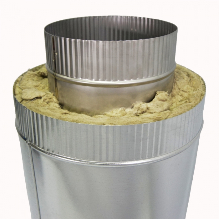 Труба с изоляцией 500 / 200/300 / 0,5 мм AISI 304/оцинк. СШ