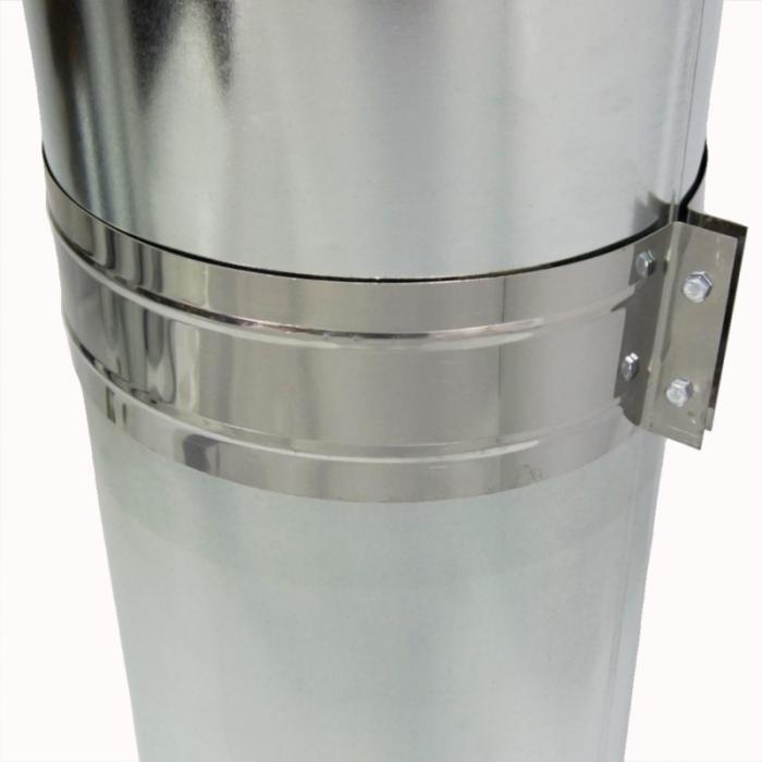 Труба с изоляцией 1000 / 200/300 / 0,8 мм AISI 304/оцинк.