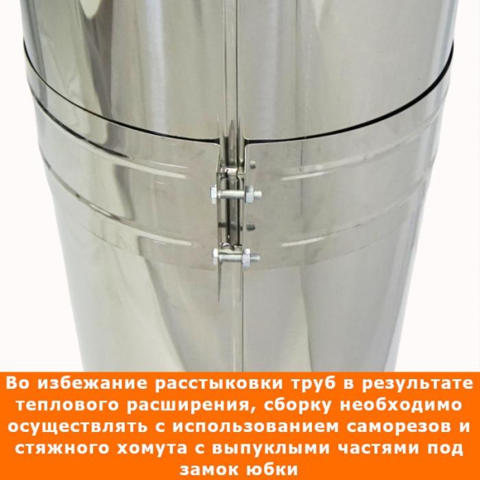 Труба с изоляцией 1000 / 200/300 / 0,5 мм AISI 304/430