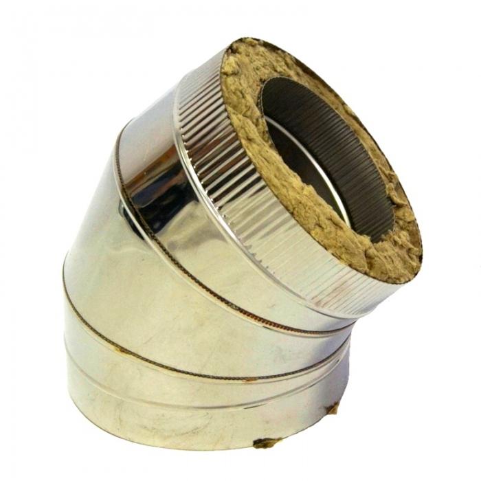 Отвод 45º с изоляцией 200/300 / 0,5 мм AISI 304/430 СШ