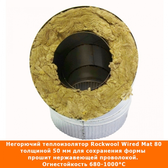 Отвод 45º с изоляцией 115/215 / 0,5 мм AISI 304/оцинк.