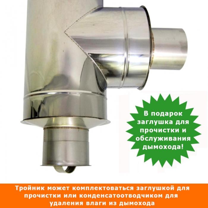 Тройник с изоляцией 90º 150/250 / 0,5 мм AISI 304/430 СШ