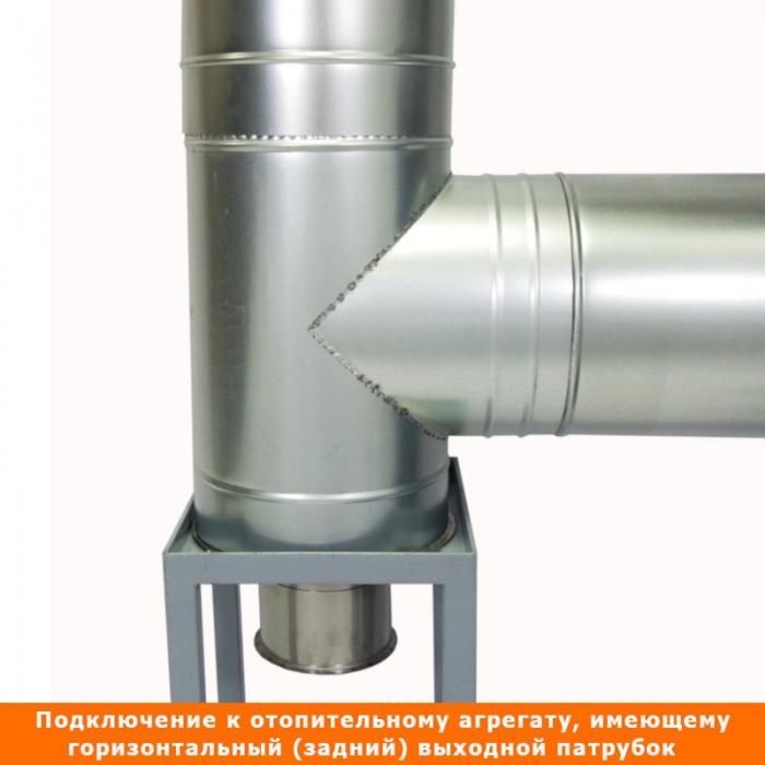 Тройник с изоляцией 90º 115/215 / 1 мм AISI 304/оцинк.