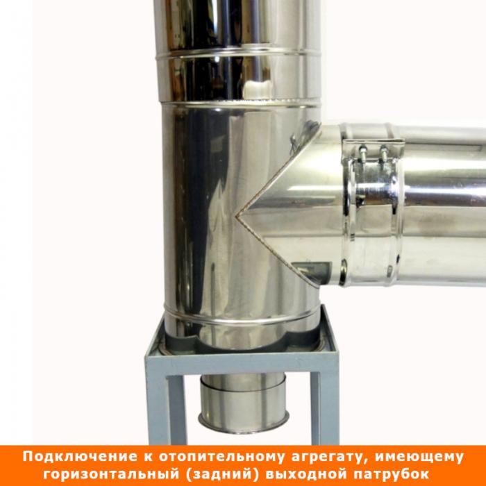 Тройник с изоляцией 90º 115/215 / 1 мм AISI 304/430