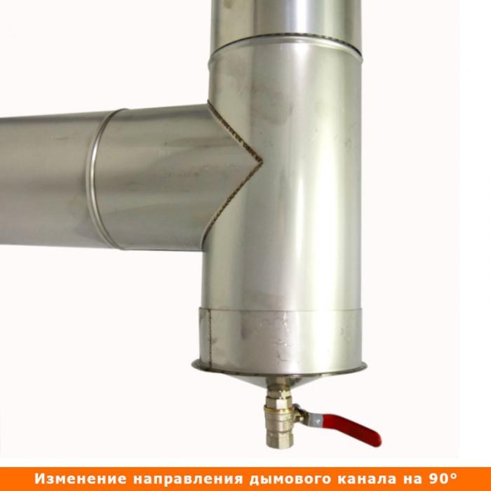 Тройник без изоляции 90º 150 / 0,8 мм AISI 304