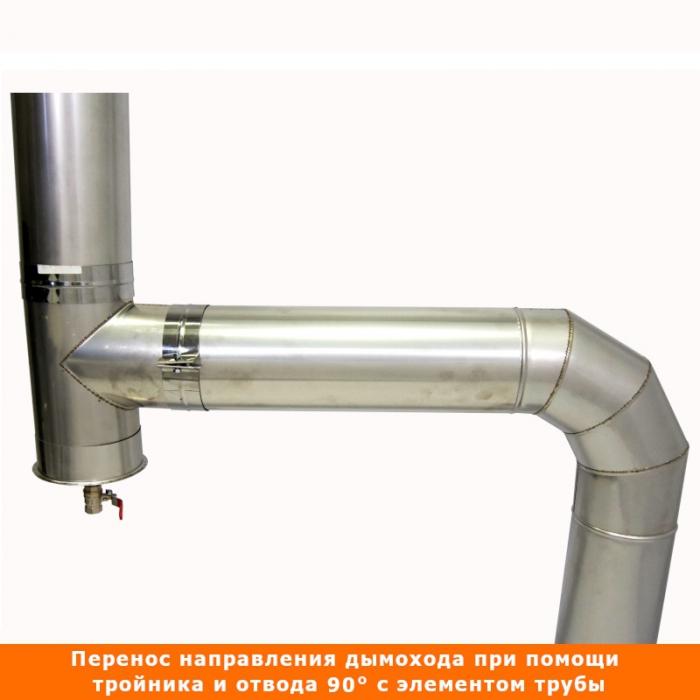 Тройник без изоляции 90º 150 / 1 мм AISI 304