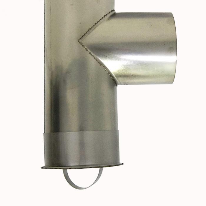 Тройник без изоляции 90º 115 / 0,8 мм AISI 304