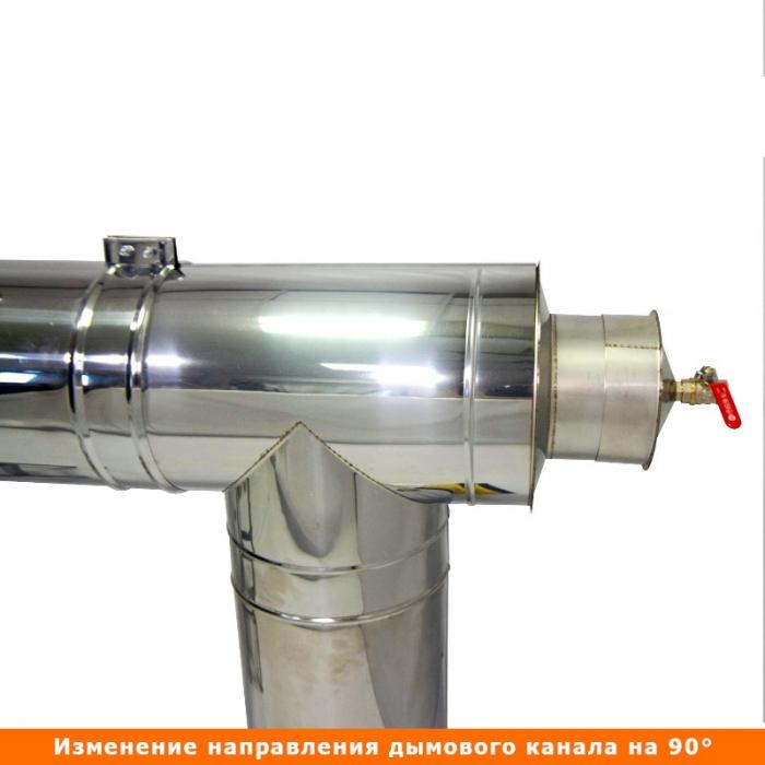 Тройник с изоляцией 90º 150/250 / 0,5 мм AISI 304/430