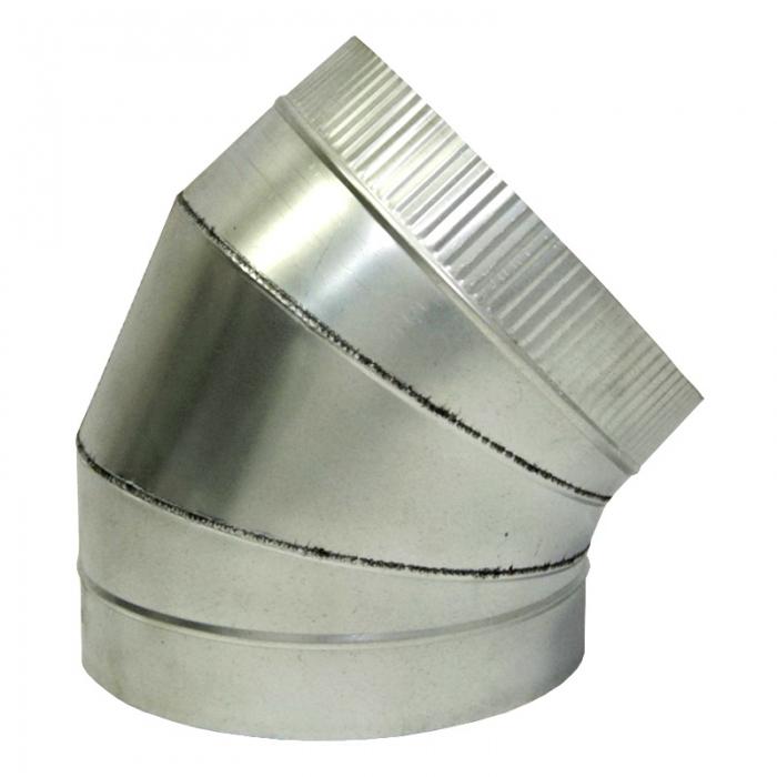 Отвод 45º с изоляцией 200/300 / 1 мм AISI 304/оцинк.