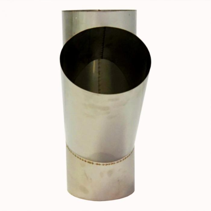 Тройник без изоляции 45º 150 / 0,8 мм AISI 304