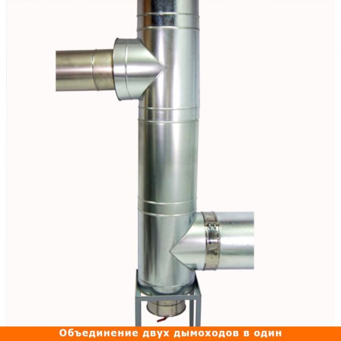 Тройник с изоляцией 90º 200/300 / 0,8 мм AISI 304/оцинк.