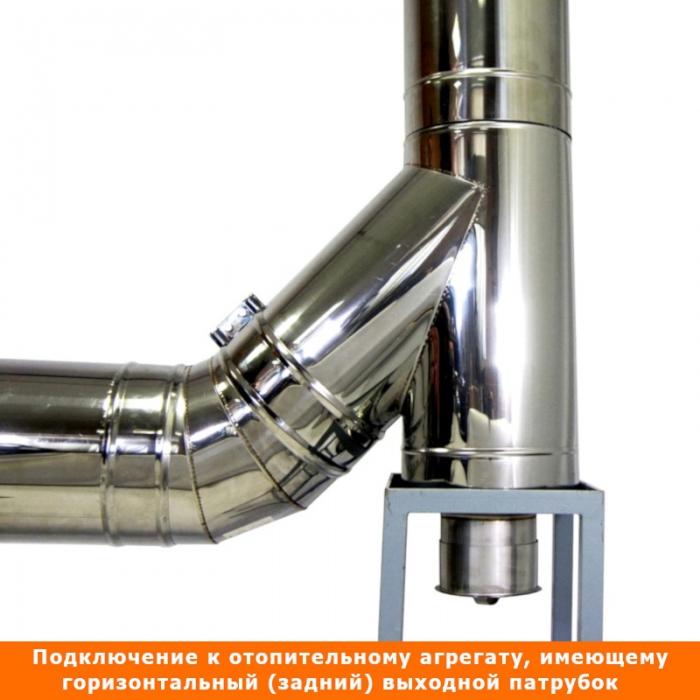 Тройник с изоляцией 45º 115/215 / 0,5 мм AISI 304/430