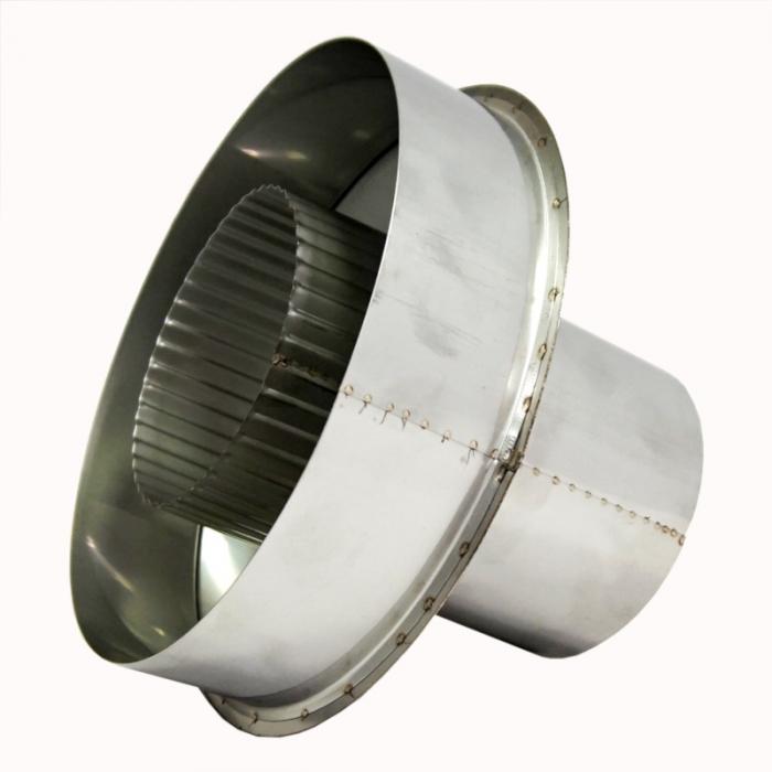 Заглушка со вставкой по дыму 115/215 / 0,5 мм AISI 304/430