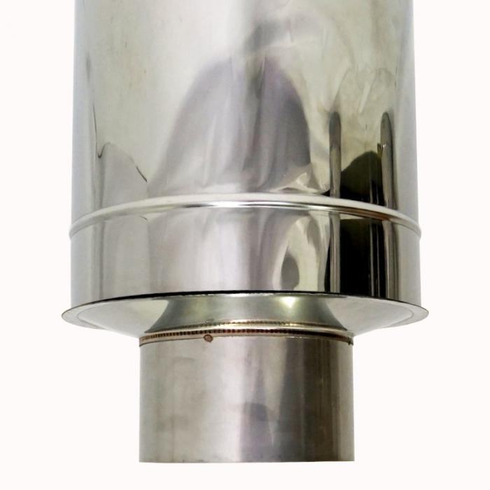 Заглушка со вставкой по дыму 150/250 / 1 мм AISI 304/430