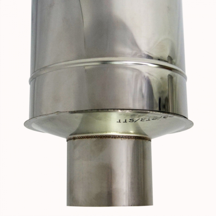 Заглушка со вставкой по конденсату 115/215 / 0,8 мм AISI 304/430 СШ