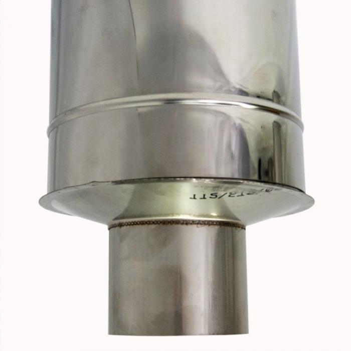 Заглушка со вставкой по дыму 115/215 / 0,8 мм AISI 304/430 СШ