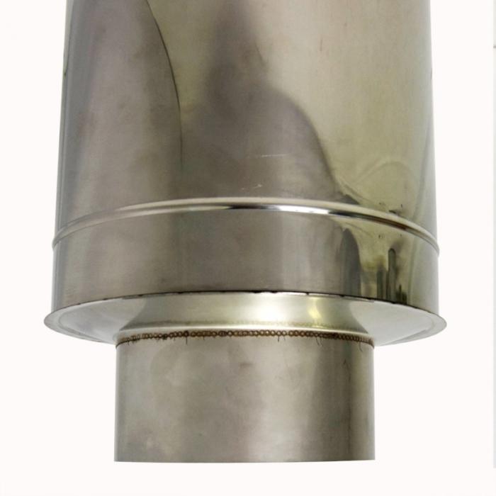 Заглушка со вставкой по дыму 200/300 / 1 мм AISI 304/430 СШ
