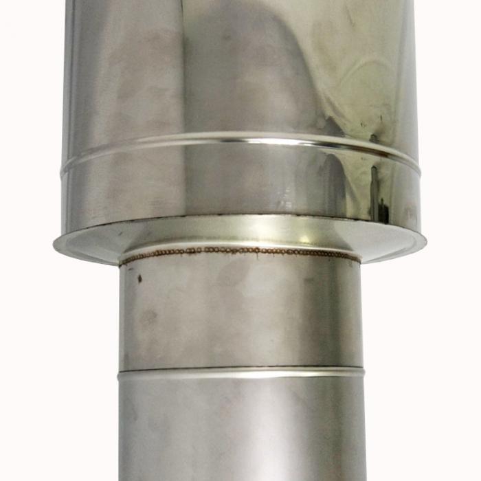 Заглушка со вставкой по дыму 200/300 / 1 мм AISI 304/430