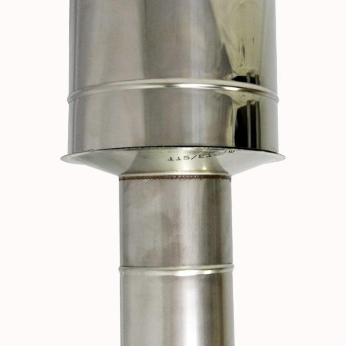 Заглушка со вставкой по дыму 115/215 / 0,5 мм AISI 304/430 СШ