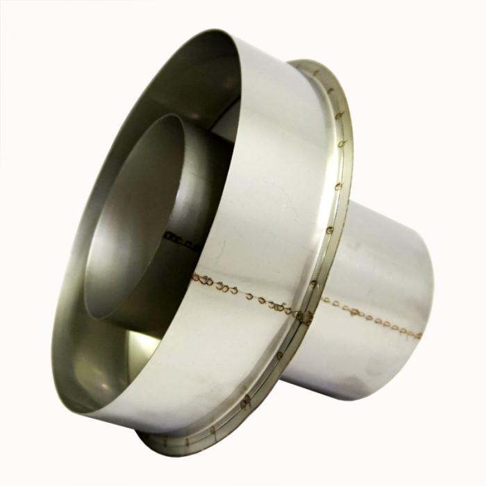 Заглушка со вставкой по конденсату 115/215 / 0,5 мм AISI 304/430