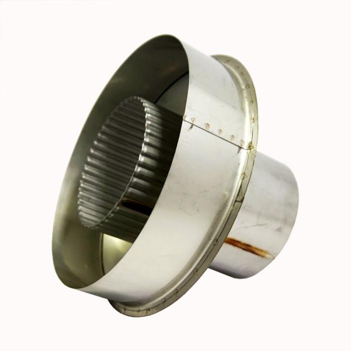 Заглушка со вставкой по дыму 115/215 / 1 мм AISI 304/430 СШ