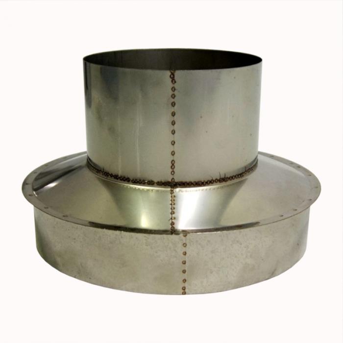 Заглушка со вставкой по дыму 150/250 / 0,8 мм AISI 304/430