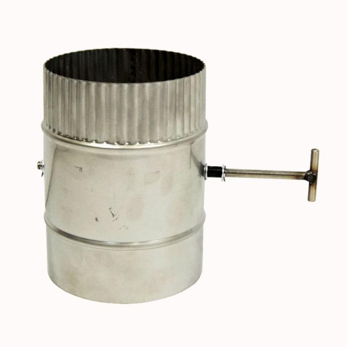 Шибер поворотный без изоляции 150 / 1,0 мм AISI 304