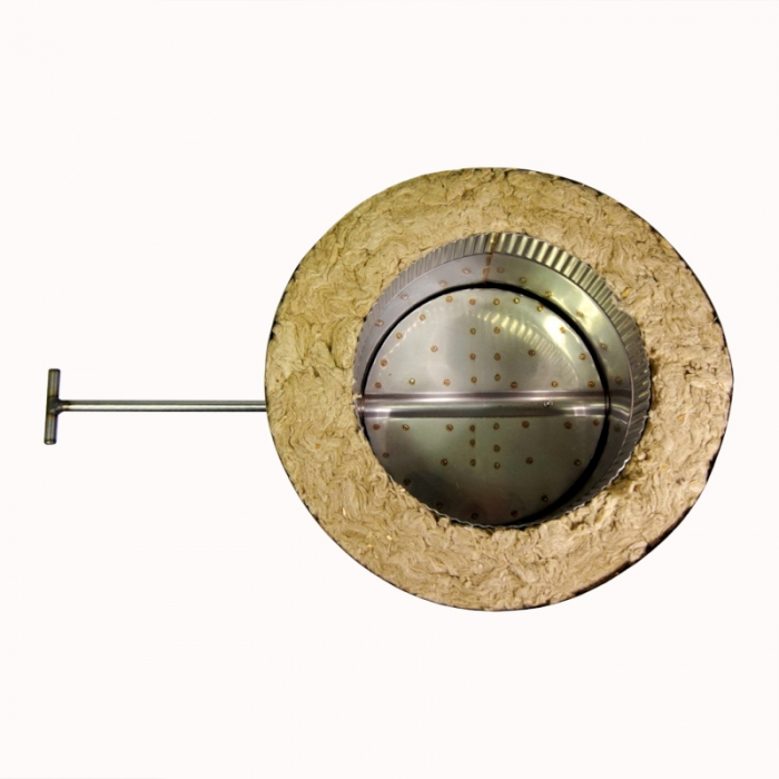 Шибер поворотный с изоляцией по конденсату 200/300 / 1,0 мм AISI 304/430