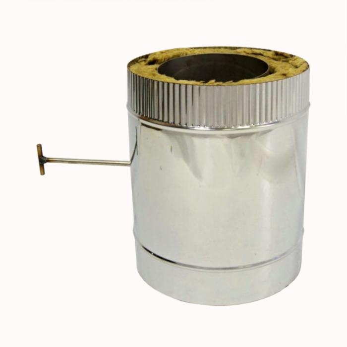 Шибер поворотный с изоляцией по конденсату 150/250 / 0,8 мм AISI 304/430
