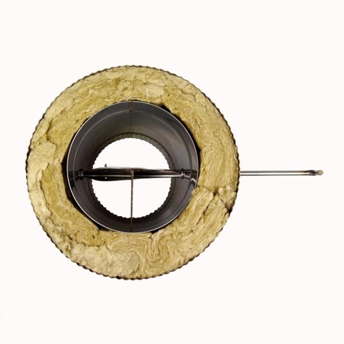 Шибер поворотный с изоляцией по конденсату 150/250 / 1,0 мм AISI 304/430