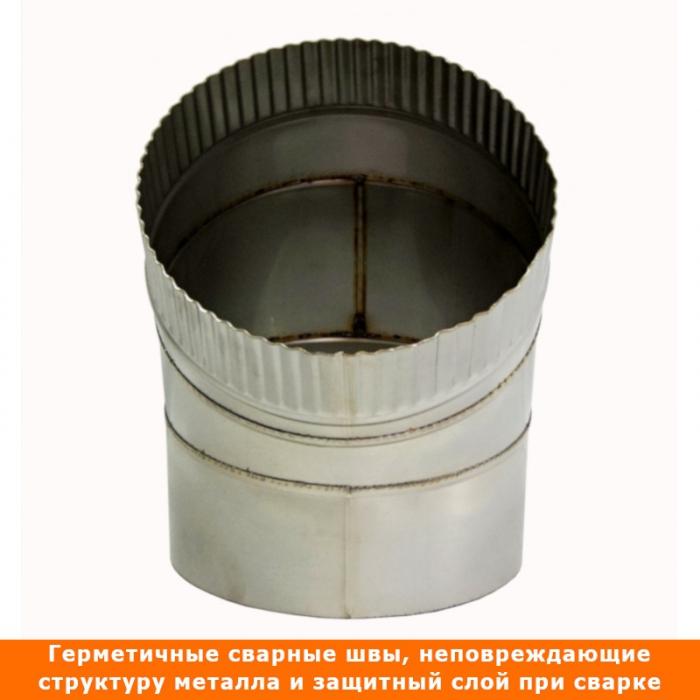 Отвод 45º без изоляции 200 / 1 мм AISI 304 СШ